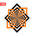 a black and orange relief tunnel optical vector image