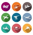 air transport and device icons set vector image vector image