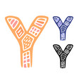 alphabet letter y kids education poster or vector image vector image