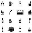 bar icon set vector image vector image