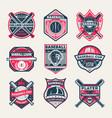 baseball championship vintage isolated label set vector image vector image