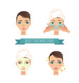 beauty treatment face care mask vector image vector image