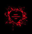 black and red happy valentines day card vector image