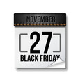 black friday calendar 27 november black friday vector image