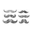 black mustache icons vector image