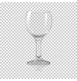 Blank tall transparent photo realistic isolated vector image vector image