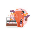 boxing sport concept for web banner vector image