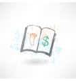 business book grunge icon vector image