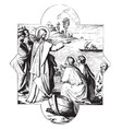 calling st james and st john is a painting vector image vector image