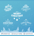 christmas background design template vector image