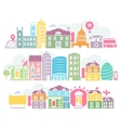 City London colorful silhouettes of buildings vector image vector image