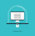 cybersecurity system internet protection concept vector image