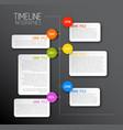 dark infographic timeline report template vector image vector image