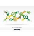 Ecology Growth abstract background with connected vector image vector image