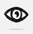 Eye icon character design vector image vector image