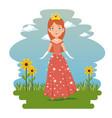fantastic character fairytale princess vector image vector image