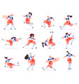 female football players soccer women team young vector image vector image