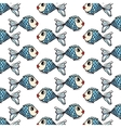 Fish hand-drawn pattern on transparent background vector image vector image