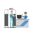 Full Body Scan In Security Check Part Of Airport vector image