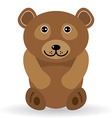 Funny bear on a white background vector image vector image