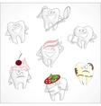 Funny dental Set vector image vector image