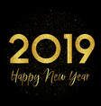 gold sparkle happy new year background vector image vector image