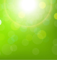 Green Sun Background With Bokeh vector image vector image