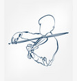 hands violin sketch line design music instrument vector image
