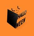 happy halloween text banner with black box vector image