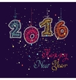 Happy new year 2016 greeting card design element vector image vector image