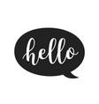 hello speech bubble icon hand drawn scandinavian vector image vector image