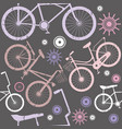 hipster bicycle seamless pattern background vector image vector image