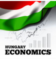 hungary economics with vector image