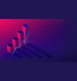 isometric cryptocurrency exchange trading concept vector image