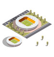 isometric stadium isometric series vector image