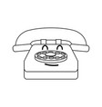 kawaii telephone communication device call cartoon vector image vector image