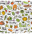 ketogenic food seamless pattern sketch vector image vector image