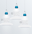 Minimal infographics design with exhibition vector image vector image