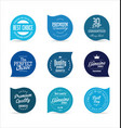 modern badges blue collection vector image vector image