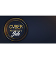 modern cyber monday sale banner vector image vector image