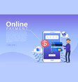 online payment concept people character making vector image