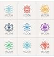 ornamental symbols vector image vector image