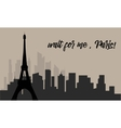 Panorama Eiffel Tower in Paris vector image vector image