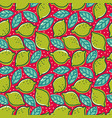 pattern with lime and pepper mint vector image