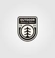 pine tree outdoor symbol logo design vintage vector image vector image