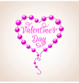 Pink heart for Valentines day vector image vector image