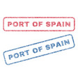 port of spain textile stamps vector image vector image