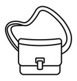 postman leather bag icon outline style vector image