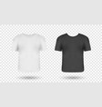 realistic man t-shirts mockups with front views vector image