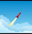 rocket to sky vector image vector image